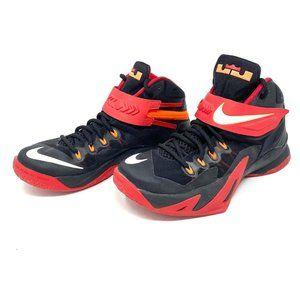 LeBron Soldier 8 Black University Red Shoes Mens